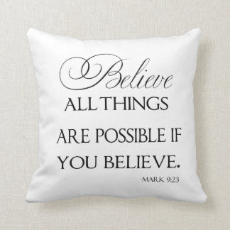 Believe - Throw Pillow