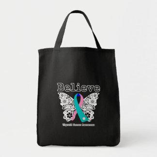 Believe - Thyroid Cancer Butterfly Bag