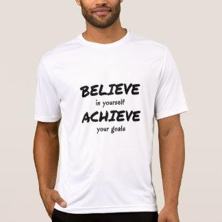 Believe to achieve motivational text sports T-Shirt