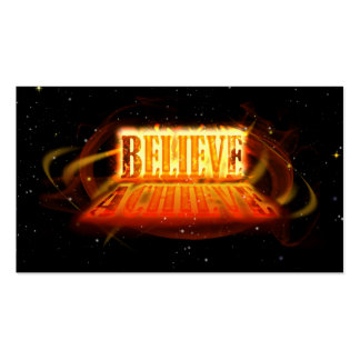Believe to Achieve Pack Of Standard Business Cards