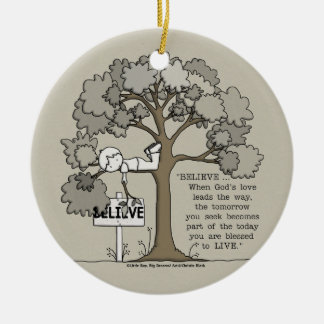BELIEVE to LIVE Christmas Ornament