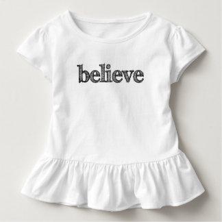 Believe Toddler Ruffle Tshirt