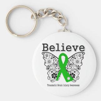 Believe Traumatic Brain Injury Keychain