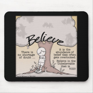 Believe Tree Mouse Pad