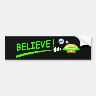 Believe! UFO Bumper Sticker