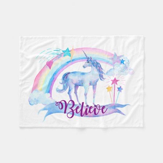Believe / Unicorn Baby Girl's Nursery Girl's Gift