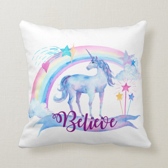 Believe / Unicorn Baby Girl's Nursery Room Decor