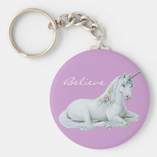Believe Unicorn Keychain