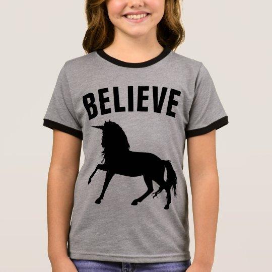 BELIEVE UNICORN Kids Girls T-shirts
