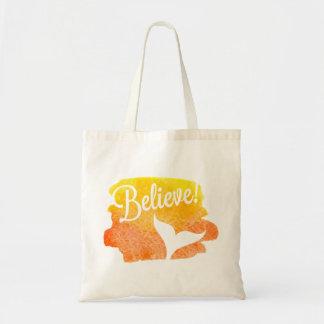 """Believe"" with Mermaid Tail Tote Bag"