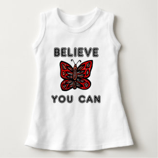 """""""Believe You Can"""" Baby Sleeveless Dress"""