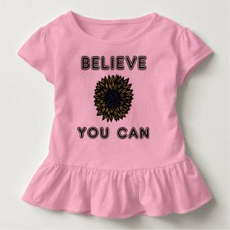 """Believe You Can"" Toddler Ruffle Tee"