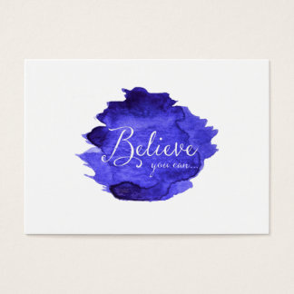 Believe You Can Watercolor Inspirational Quote Business Card