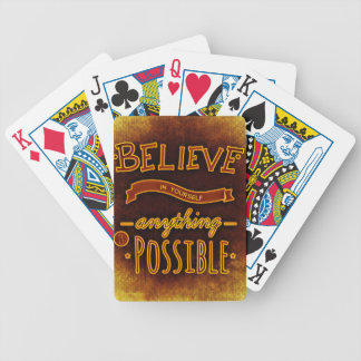 Believe yourself bicycle playing cards