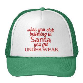 Believing in Santa or get underwear Mesh Hats