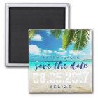 Belise Beach Destination Wedding Save the Dates Magnet
