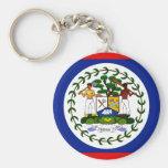 Belise Flag Basic Round Button Key Ring
