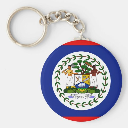 Belise High quality Flag Basic Round Button Key Ring