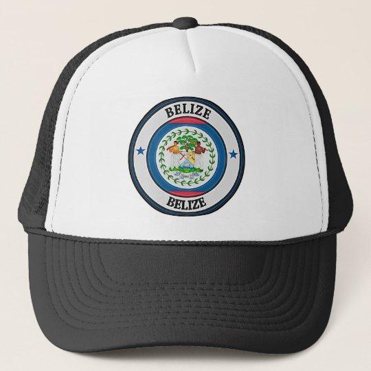 Belise Round Emblem Trucker Hat