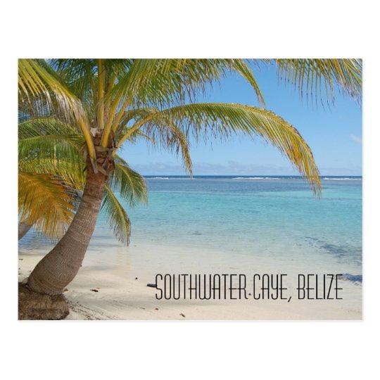 Belise Sand Beach Caribbean Sea Seascape Postcard