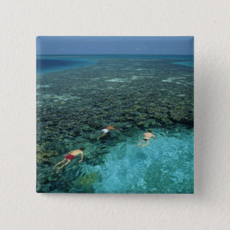 Belize, Barrier Reef, Lighthouse Reef, Blue 15 Cm Square Badge