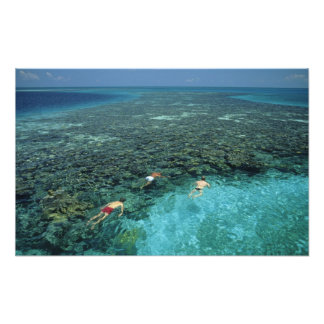 Belize, Barrier Reef, Lighthouse Reef, Blue Photo Print