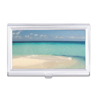 Belize, Caribbean Sea. Goff Caye, A Small Island Business Card Holder