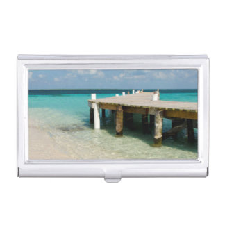 Belize, Caribbean Sea, Goff Caye. A Small Island Business Card Holder