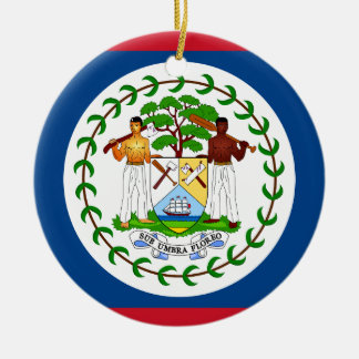 Belize Flag Christmas Ornament