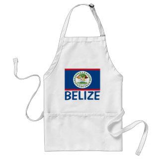 Belize Flag Customizable Blue Text Standard Apron