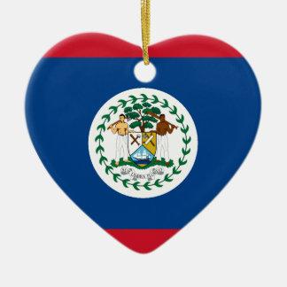 Belize Flag Heart Ceramic Heart Decoration