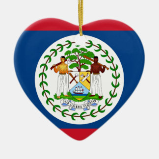 Belize Flag Heart Ornament