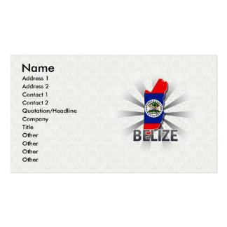 Belize Flag Map 2.0 Business Cards