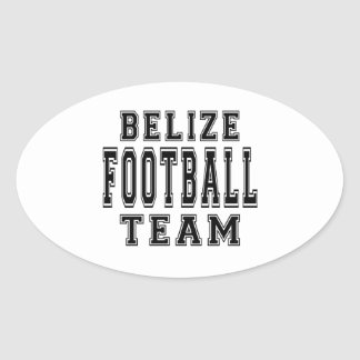 Belize Football Team Oval Stickers