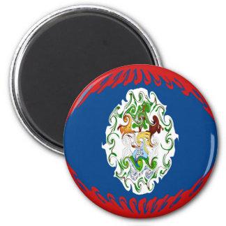 Belize Gnarly Flag Refrigerator Magnets