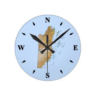 Belize Map Clock