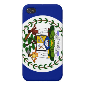 Belize National Nation Flag  iPhone 4 Covers