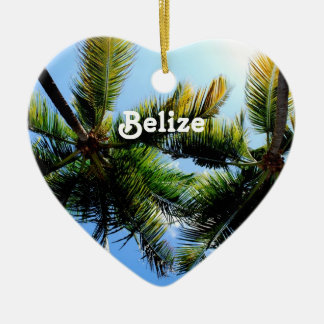 Belize Palm Trees Christmas Ornament