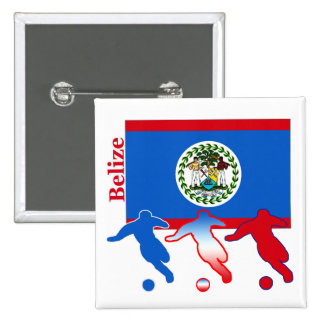 Belize Soccer Players 15 Cm Square Badge