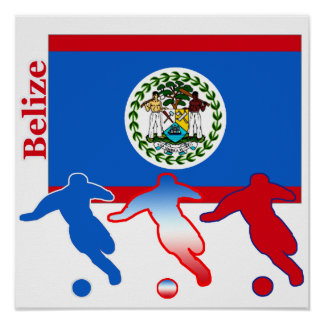 Belize Soccer Players Poster