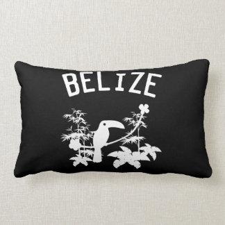 Belize Toucan Silhouette Lumbar Pillow