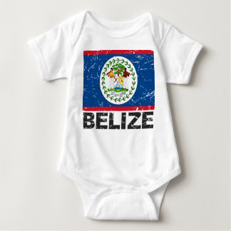 Belize Vintage Flag Baby Bodysuit