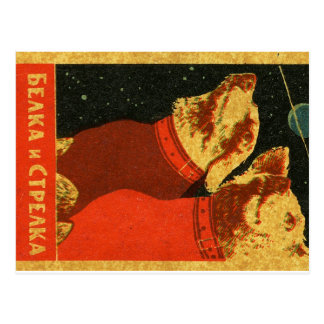 Belka and Strelka Postcard