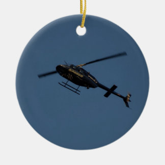 Bell 206B-3 JetRanger III Helicopter. Christmas Ornament