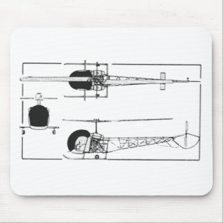 Bell 47 Helicopter Mouse Mat