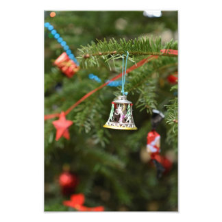 Bell Christmas ornament Photo Print