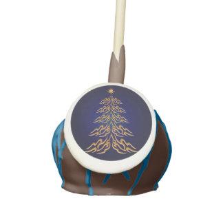 Bell Christmas Tree Cake Pops