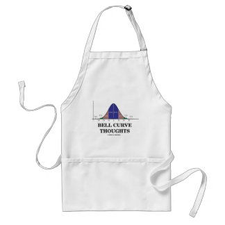 Bell Curve Thoughts (Statistics Attitude) Standard Apron