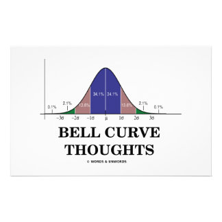 Bell Curve Thoughts (Statistics Attitude) Stationery Paper