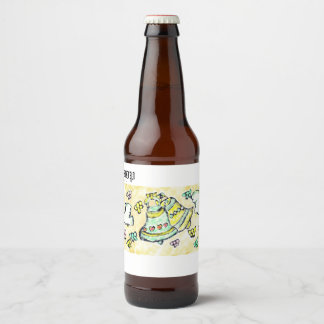 bell dove bow beer bottle label